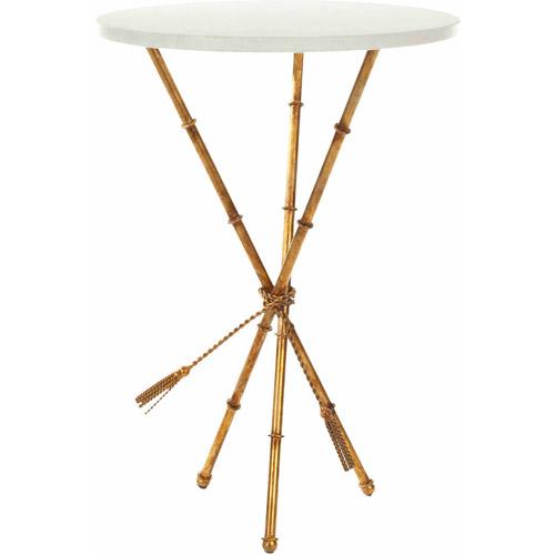 Safavieh Ross Accent Table, White/Gold Legs