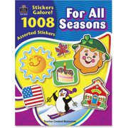 Teacher Created Resources, TCR4224, Seasons Stickers Galore Book, 1008 / Pack, Assorted