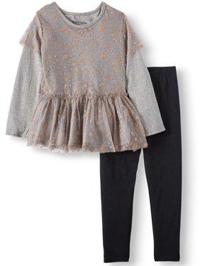 53755d206cb33 Product Image KidTopia Glitter Mesh 2Fer Tunic   Legging