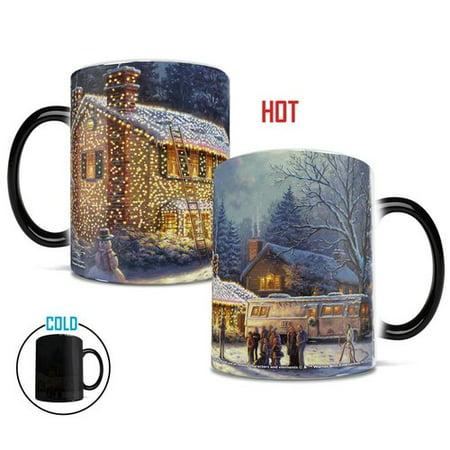 Morphing Mugs Thomas Kinkade National Lampoons Christmas Vacation Painting Heat Reveal Ceramic Coffee Mug (Christmas Mugs)