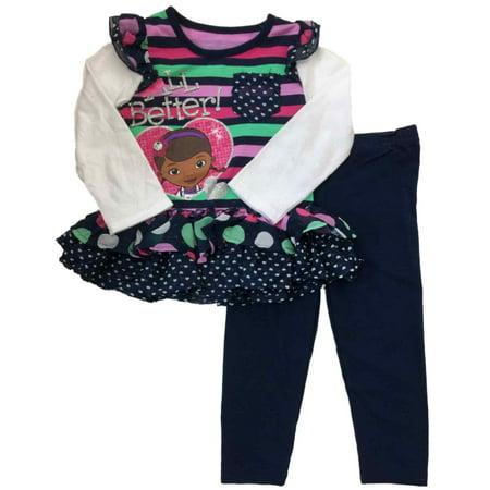 Infant Toddler Girls Disney Doc McStuffins All Better Shirt & Legging Outfit 2T - Doc Mcstuffins Tutu Outfit