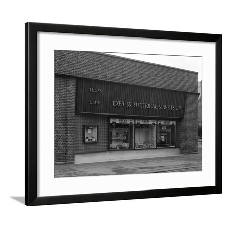 Express Shop (Express Electrical Services Shop Front, Plymouth, Devon, 1961 Framed Print Wall Art By Michael)