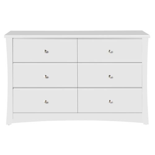 Storkcraft Crescent 6 Drawer Dresser White
