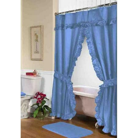 Lauren Double Swag Shower Curtain Linen