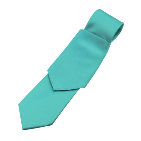 Men's Solid Satin Neck Tie and Hankie Set in - Blue Camo Tie