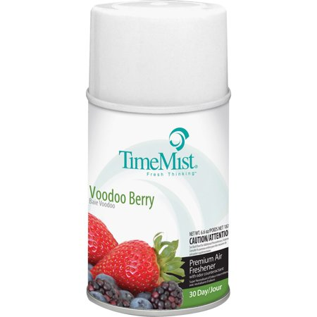 TimeMist, TMS1042727CT, Metered System Voodoo Berry Scent Refill, 12 / Carton, Clear Scent 12 Refills