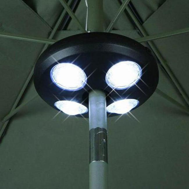 New Umbrella Pole Light Outdoor Patio Yard Lighting Decor 24 White