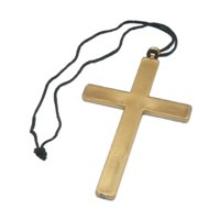 Religious Christian Monk's Cross Necklace Priest Costume Accessory