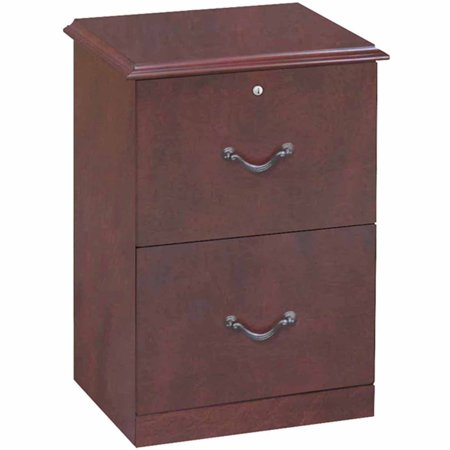 2 Drawer Traditional Vertical File Cabinet Cherry