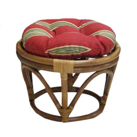 Blazing Needles 18 in. Outdoor Papasan Footstool Cushion (Papasan Ottoman Cushions)
