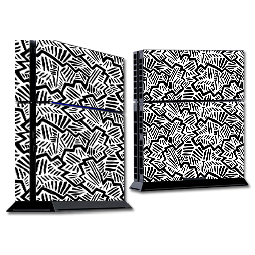 Mightyskins Protective Vinyl Skin Decal Cover for Sony PlayStation 4 PS4 Console wrap sticker skins Abstract Black