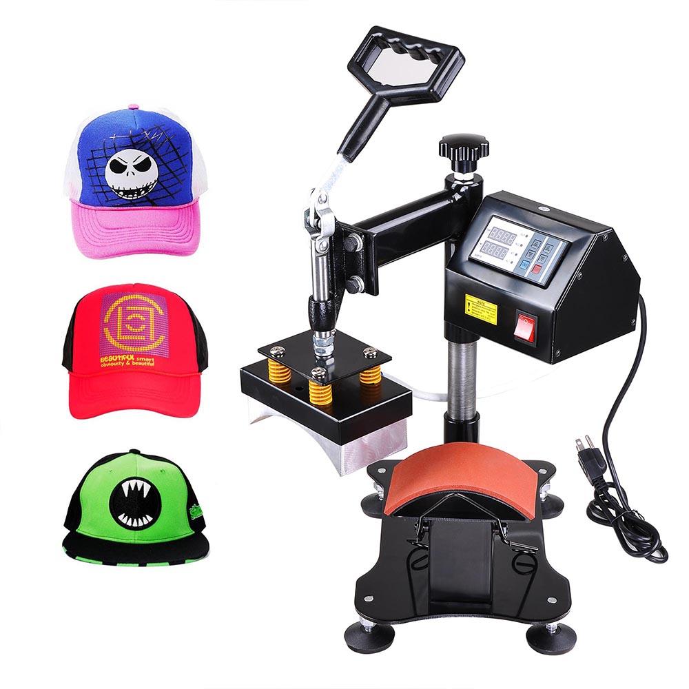 "Yescom 5-1/2""x3"" Desktop 400°F 360° Rotation Iron Hat Cap Heat Press Machine Baseball Digital Transfer Sublimation Machine"