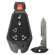 KeylessOption Keyless Entry Remote Control Car Smart Key Fob Starter Clicker for 08-14 Chrysler Town & Country Dodge Grand Caravan VW Routan Fobik Vehicles