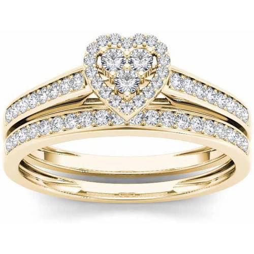 Imperial 1/2 Carat T.W. Diamond Heart-Frame 10kt Yellow G...