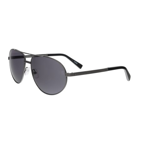 - Ermenegildo Zegna EZ0030/S 09A Black/Grey Aviator Sunglasses