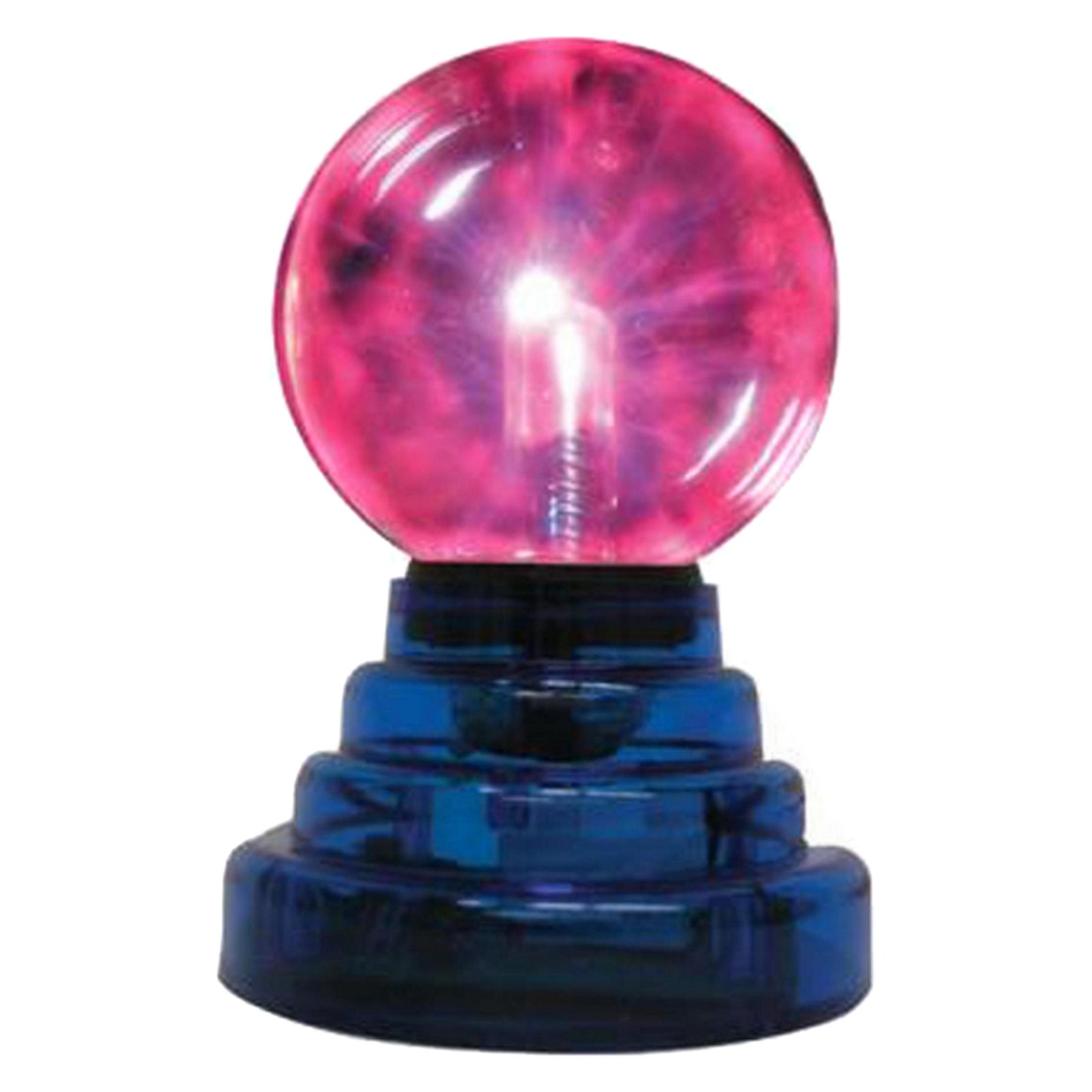 "Creative Motion 3"" Mini Plasma Ball, Black. Lighting responds to the sound and Music. Lightening to your fingertips. Product Size: 4.5x7 x 4.5"