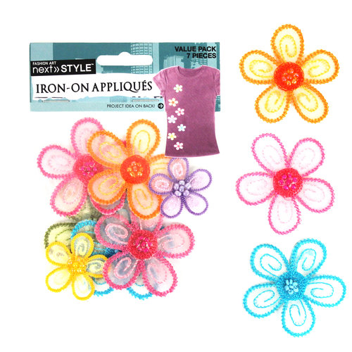 Next Style Applique Value Pack, Sheer Flowers