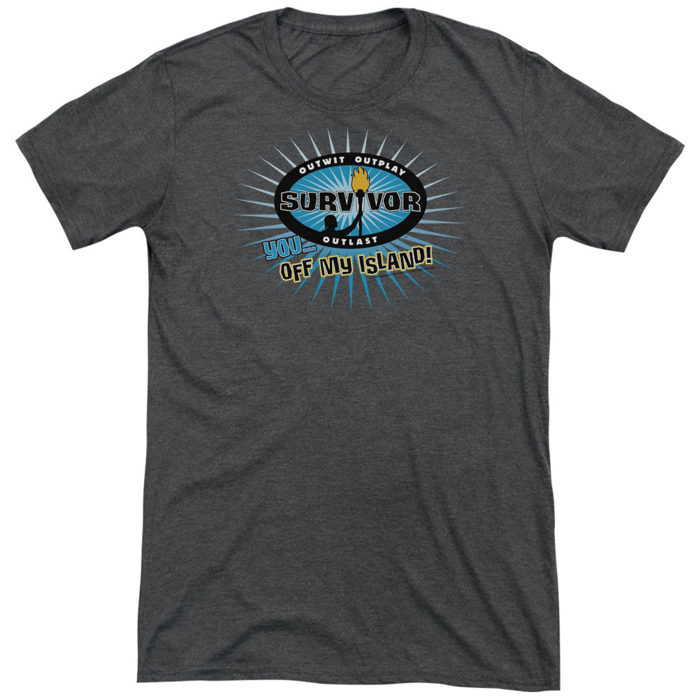 Survivor Off My Island Mens Tri-Blend Short Sleeve Shirt