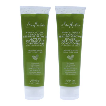 Bamboo Extract and Maca Root Resilient Growth Conditioner by Shea Moisture for Unisex - 10.3 oz Cond - Pack of 2