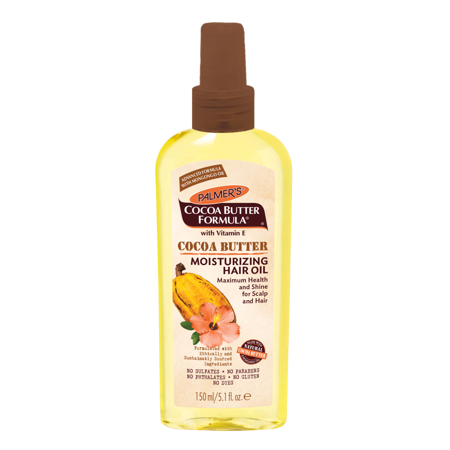 Palmer's Cocoa Butter Formula with Vitamin E Cocoa Butter Moisturizing Hair Oil, 5.1 oz - Mens Greaser Hair