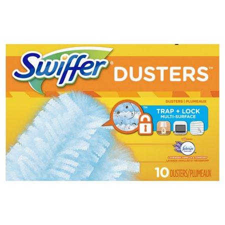 Swiffer 180 Dusters Multi Surface Refills, with Febreze Lavender & Vanilla scent, 10 - Double Duster Refill