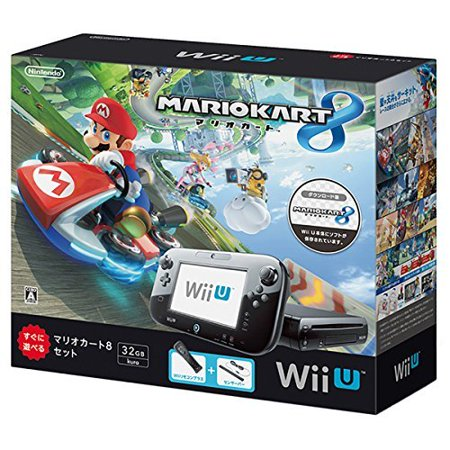 refurbished wii u mario kart 8 set black. Black Bedroom Furniture Sets. Home Design Ideas