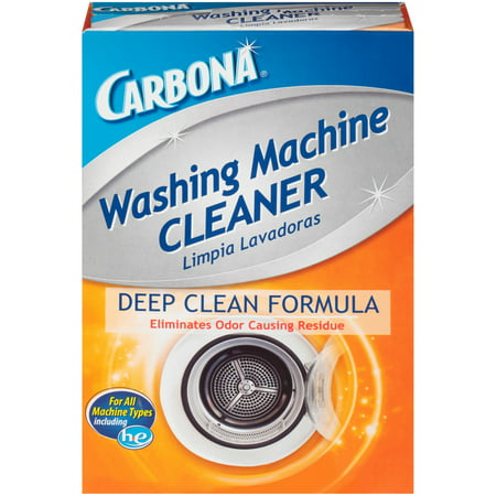 Carbona Washing Machine Cleaner, 3 Count Pouches The Carbona Washing Machine Cleaner helps to eliminate odor-causing residue and helps to prolong the life of your washing machine. Its deep-cleaning formula also works to deodorize. It's compatible with all washing machine types, including HE. Use it at least once per month to maintain a fresh and clean-smelling washing machine. The Carbona Washing Machine Cleaner is meant to be used without clothes inside.