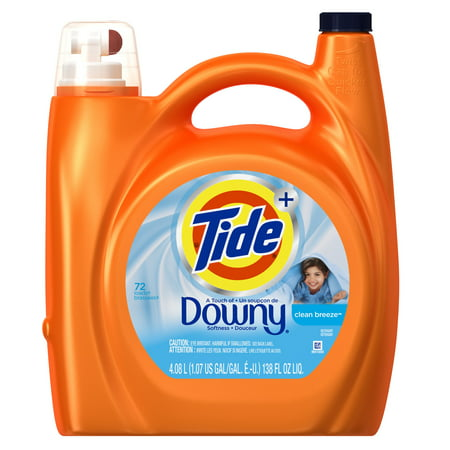 Tide Plus With Downy Laundry Detergent Clean Breeze 72