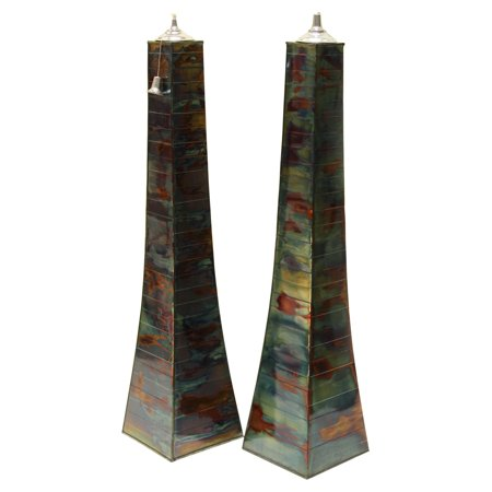 - Vineyard Outdoor Pyramid Torch - Set of 2