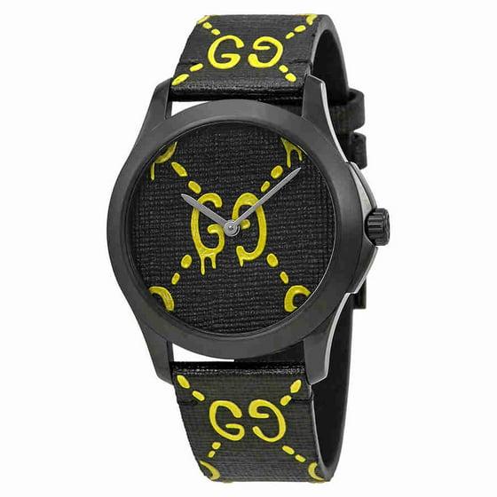 d8ffa6edbef Gucci - Gucci G-Timeless Black with Ghost Motif Dial Mens Watch YA1264018 -  Walmart.com