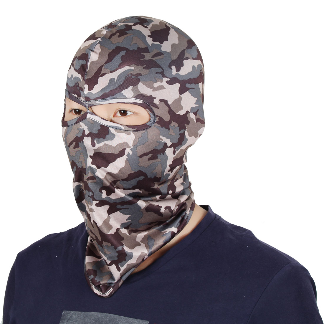Full Coverage Face Mask Activities Hunting Cycling Eyes Holes Helmet Balaclava by Unique-Bargains