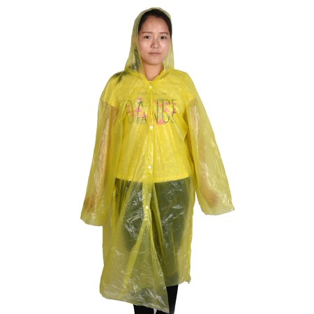 - Travel Hiking Plastic Cover Water Resistant Dustproof Disposable Raincoat Yellow