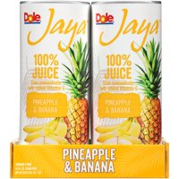 (12 Cans) Dole Jaya 100% Pineapple & Banana Juice, Tropical Juice, 8.4 Oz Can, 4 Ct