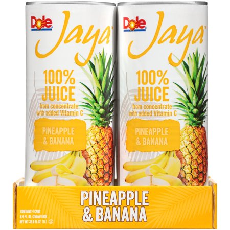 (24 Cans) Dole Jaya 100% Pineapple & Banana Juice, 8.4 fl oz](Halloween Punch Pineapple Juice)