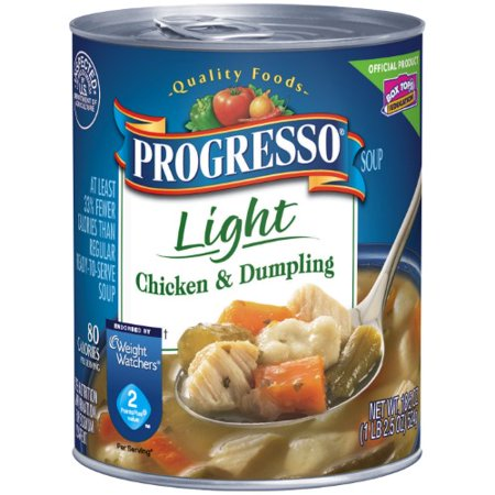 - Progresso Chicken & Dumpling Soup, Light (Pack of 12)