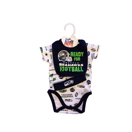 d3c07ebcc NFL Seattle Seahawks Bodysuit, Bib & Hat Set Infant Choose Your Size -  Walmart.com