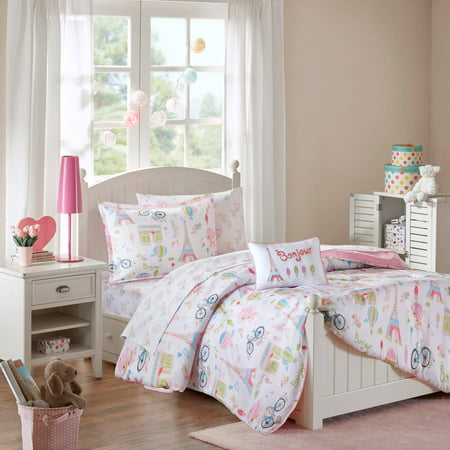 Home Essence Kids Poodles In Paris Complete Bed And Sheet Set