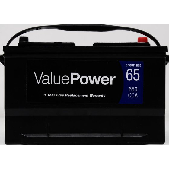 Valuepower lead acid automotive battery group 65 walmart fandeluxe Image collections
