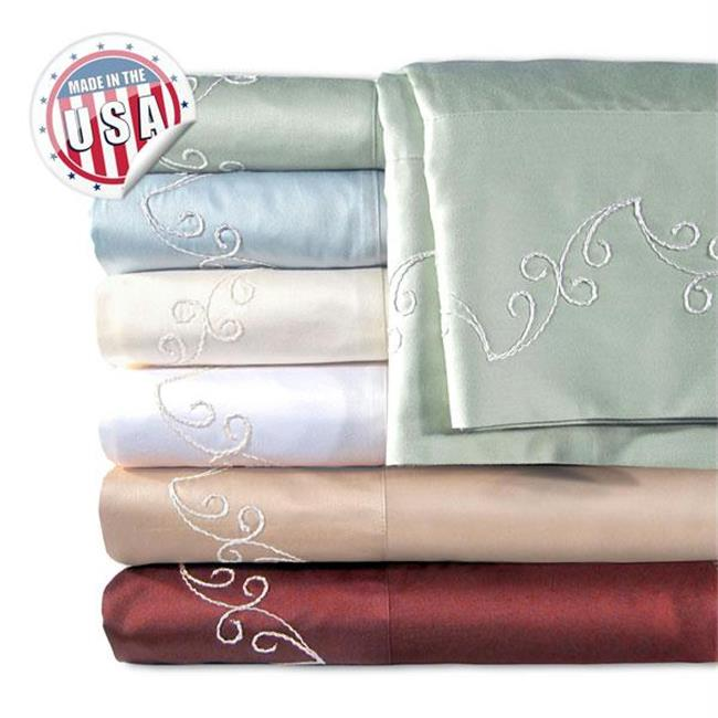 500Tc Scroll Pillowcase Pair - Mulberry - 736425566257