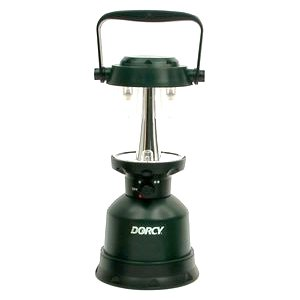 Dorcy 400-Lumen Waterproof Floating Outdoor Twin Globe LED Lantern with Hanger Hook and Handle, Green (41-3108)