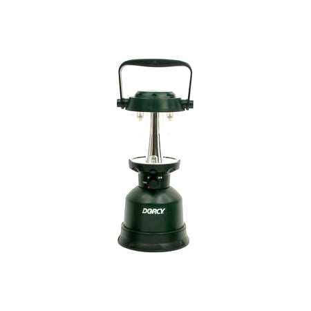 Dorcy 400-Lumen Waterproof Floating Outdoor Twin Globe LED Lantern with Hanger Hook and Handle, Green (41-3108) ()