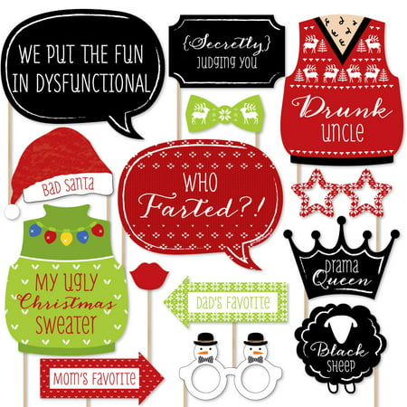 Christmas Family Reunion - Fun Family Theme Holiday Party Photo Booth Props Kit - 20 Count](Christmas Party Theme Ideas)