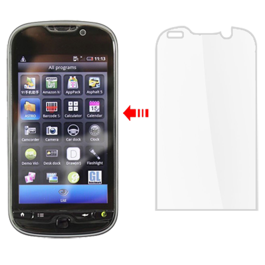 Unique Bargains LCD Screen Guard Protector Cover Clear 2 Pcs for HTC My Touch 4