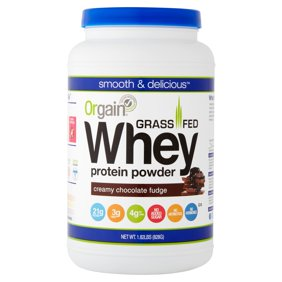 Orgain Grass Fed Whey Protein Powder Chocolate 21g 18 Lb