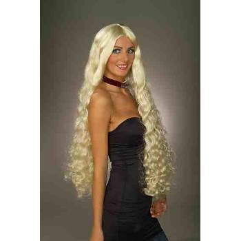 Blonde Mesmerelda Adult Halloween Costume Accessory - Blonde Wig With Bangs