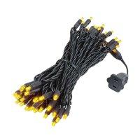 Novelty Lights 50 Light LED Christmas Mini Light Set, Outdoor Lighting Party Patio String Lights, Black Wire, 25 Feet
