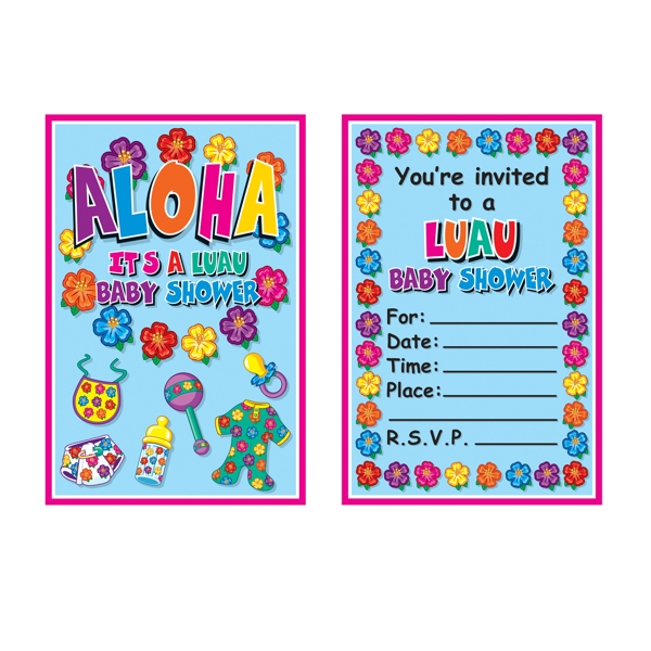 Aloha Baby Shower Invitations Walmart Com
