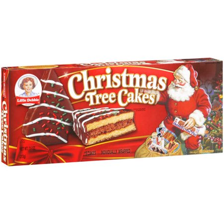 Little Debbie Family Pack Christmas Tree Cakes Chocolate Snack Cakes, 7.91 oz