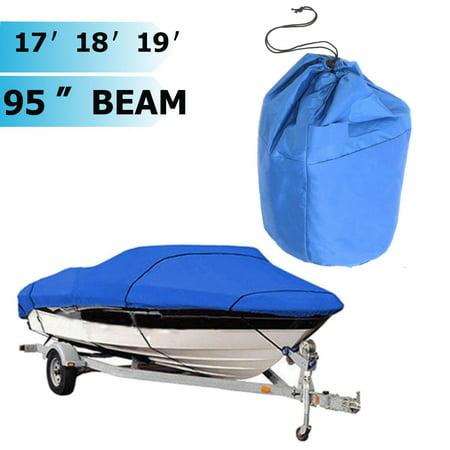210d Waterproof Dustproof Durable Heavy Duty Speedboat Boat Cover For 17