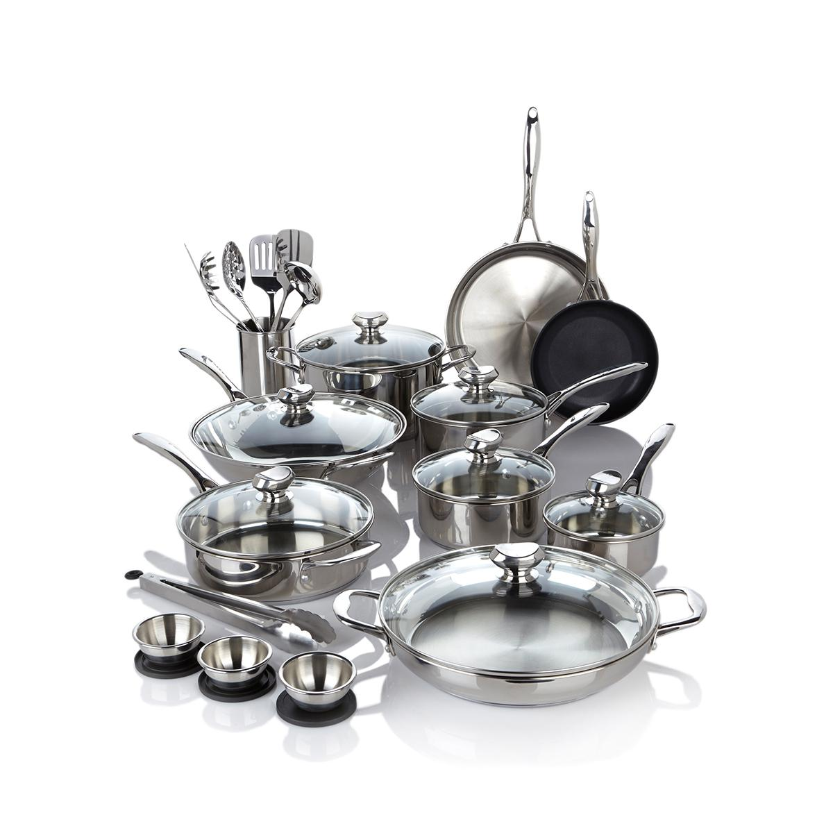 Wolfgang Puck Bistro Elite 27-piece Stainless Steel Cookw...